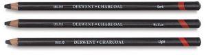 Derwent Charcoal Pencils: Light, Medium, Dark
