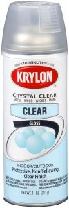 Krylon Crystal Clear Protective Finish Spray Satin (Indoor/Outdoor),11 oz