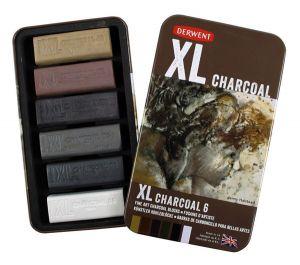Derwent XL Charcoal Tin Set - 6 pk