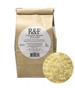 R&F Encaustic Purified Beeswax & Damar Resin Medium 1lb (454g) bag
