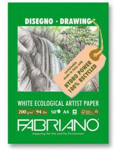 """Fabriano Drawing Pad 8"""" x 12"""" - 50 Sheets-94lb"""
