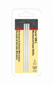 General's Factis Mechanical Eraser Bm-2 Refills, 3-pc