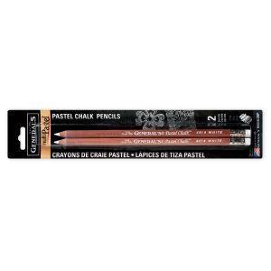 General's Multi Pastel White Chalk Pencil – 2 Pk
