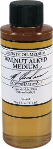 M Graham Walnut Alkyd Oil Medium - 4 oz.