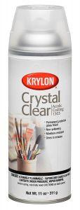 Krylon Crystal Clear Acrylic Coating Aerosol Spray, 11 oz
