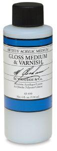 M Graham Artists' Acrylic Gloss Medium & Varnish - 4 oz