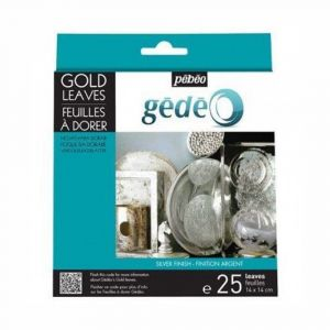 Gedeo Silver Gilding Leaves 25 Pieces