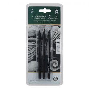 Pentalic Woodless Charcoal Pencils 3 Piece Set
