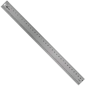 Aluminum Ruler by Pro Art - 18 x 1-1/4 inches