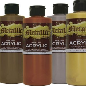 Pro Art Acrylic Metallic Paint 8-oz. Bottle