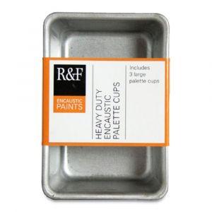 R&F Encaustic Palette Rectangular Large Cups, Pkg of 3