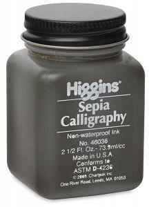 Higgins Sepia Calligraphy Ink 2.5-oz