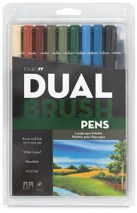 Tombow Dual Brush Set - 10 Landscape Colours
