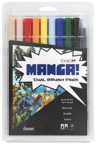 Tombow Dual Brush Set - 10 Shonen (Boy) Colours
