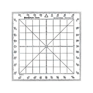 Navigational Protractor Ruler