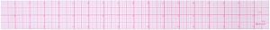 Westcott Letter Craft 8ths Beveled Transparent Ruler 18-Inch