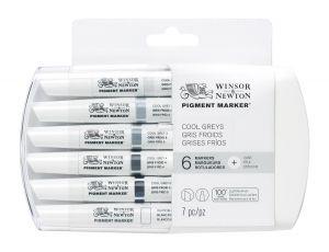 Winsor & Newton Pigment Marker Cool Greys 6 pk