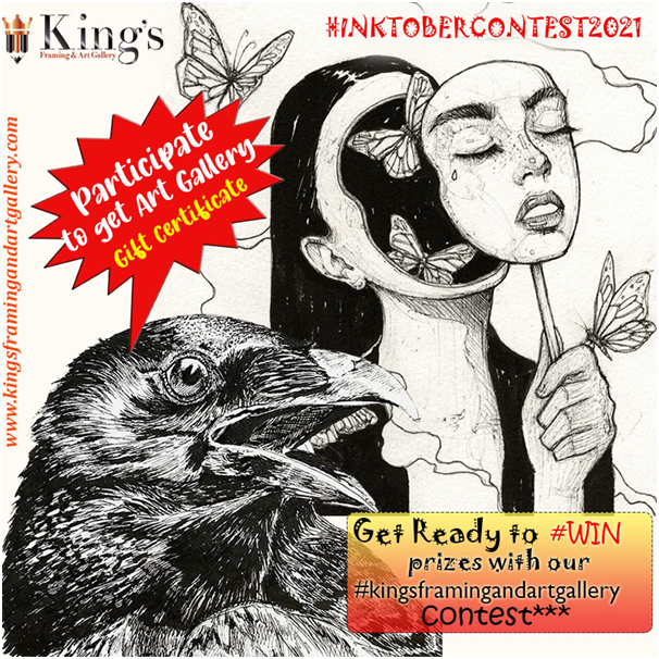 King's Framing & Art Gallery announces its Inktober Fun Challenge with exciting prizes to be won!