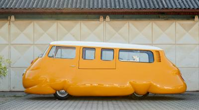 Hot Dog Bus by Erwin Wurm