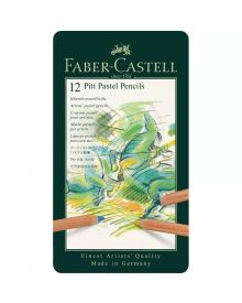 Faber-Castell Pitt Pastel Pencil, tin of 12