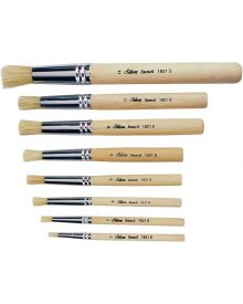 Silver Stencil Series 1821S Short Handle Brushes