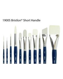 Silver Brush Bristlon Synthetic Short Handle Brushes