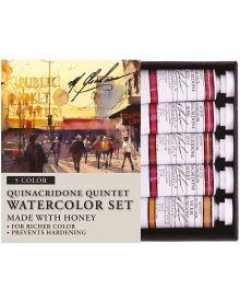 M. Graham 5-Colour Quinacridone Quintet Watercolour Set