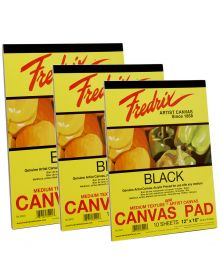 Fredrix Acrylic Primed Black Canvas Pads