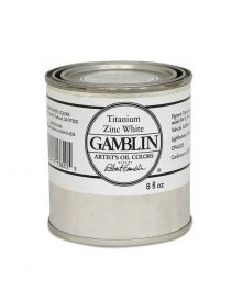 Gamblin Artitst's Oil Color - Titanium Zinc White, 250 ml (8oz)