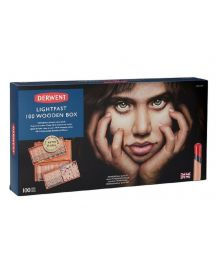 Derwent Lightfast Coloured Pencil Sets (100) Wooden Box