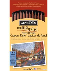 General's Multi-Pastel Chalk Pencil Set 24 + 2 Sharpeners
