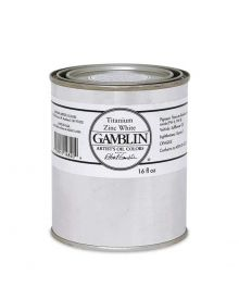 Gamblin Artitst's Oil Color - Titanium Zinc White, 500 ml (16oz)