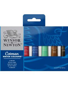 Winsor & Newton Cotman Water Colours Set, 6 x 8 ml Tubes