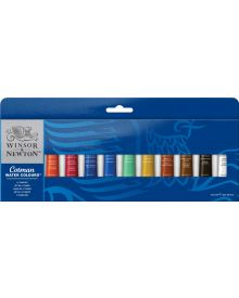 Winsor & Newton Cotman Water Colours of Set 12 x 8 ml Tubes