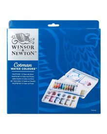 Winsor & Newton Cotman Water Colours Palette Set 10 x 8 ml tubes