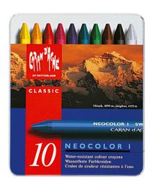 Caran d'Ache Neocolor I Wax Oil Crayons Ass. Pack of 10