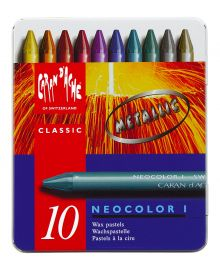 Caran d'Ache Neocolor I Metallic Artist Crayons Set of 10