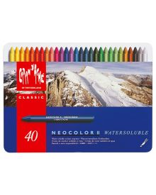 Caran d'Ache Neocolor II Water-Soluble Pastel Set of 40