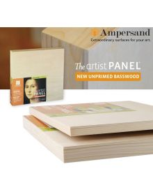 Ampersand Value Series Unprimed Basswood Artist Panels