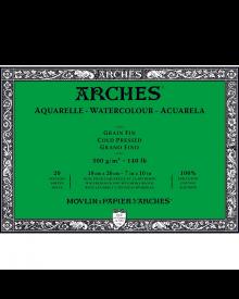 "Arches Watercolour Cold Pressed Block 140 lb, 7"" x 10"", 20 sheets"