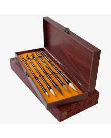 Sumi Brush Wood Box Set - 5-Piece