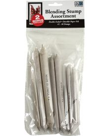 Art Advantage Assorted Blending Stumps 6 piece Set
