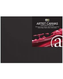 Art Advantage - Thick Professional Wide Wall Black Canvas