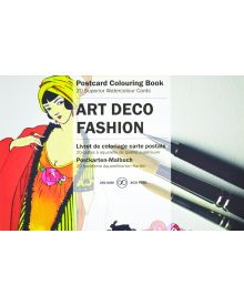 ART DECO FASHION: PEPIN POSTCARD COLOURING BOOK