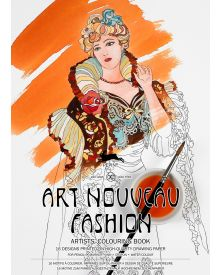 ART NOUVEAU FASHION: Artists' Colouring Books - Paperback