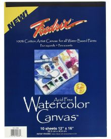 Fredrix Archival Watercolour Canvas Pad 12 x 16 Inch