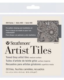 Strathmore 400 Series Toned Artist Tiles, Gray Toned – 30/Sht. 4″ x 4″