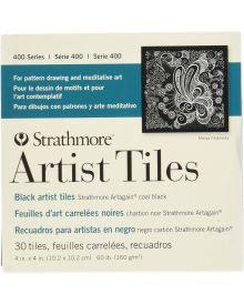 Strathmore 400 Series Artist Tiles, Black Artagain – 30/Sht. 4″ x 4″