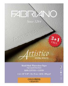 """Fabriano Artistico 22""""x30"""", 140lbs Extra-White HP """"Buy 3 Get 1 Free"""