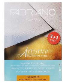 """Fabriano Artistico 22""""x30"""", 140lbs Traditional White CP """"Buy 3 Get 1 Free"""""""